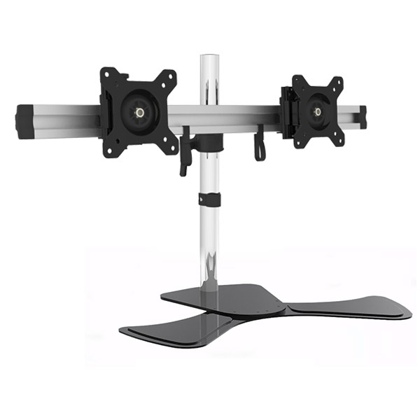 Dual Monitor Desk Stand Lcd Mount Adjule Free Standing Two Computer Led Displays United Mounts