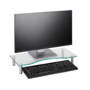 Curved Glass Monitor Riser